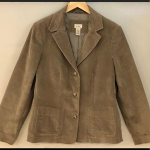 L.L.Bean Women's Corduroy Riding Jacket Blazer